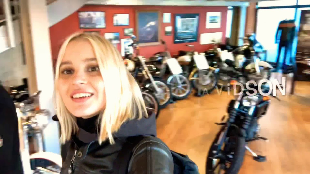 Can a girl ride a big Harley Davidson? Dominika Rides riding the Fat Bob for the first time.