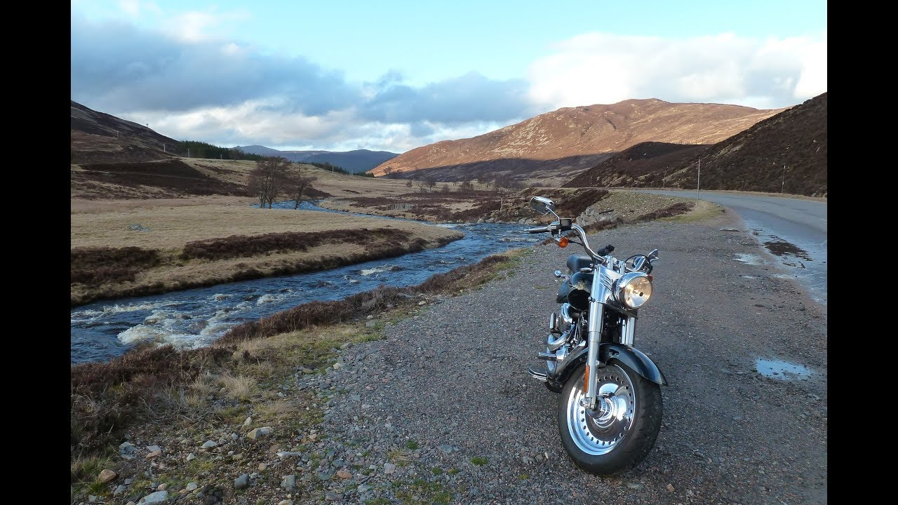 Braemar to Blairgowrie on a Harley