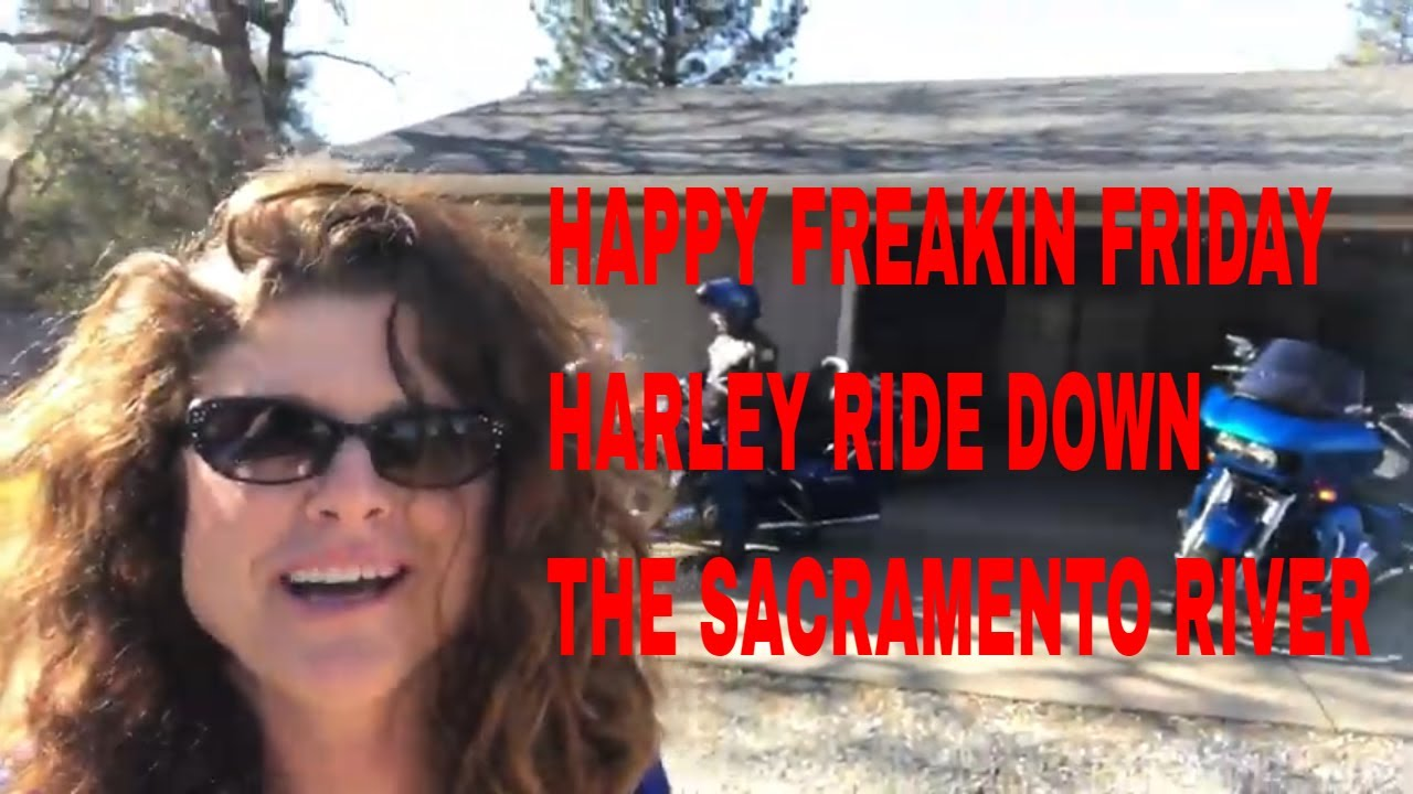 HAPPY FREAKIN FRIDAY HARLEY RIDE DOWN THE SACRAMENTO RIVER