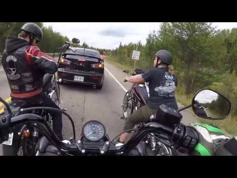 Riding my Harley Davidson  forty eight with friends