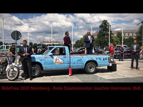 Motorrad Demonstration Nürnberg - Rede Staatsminister Joachim Herrmann, MdL (Ride Free 2020)