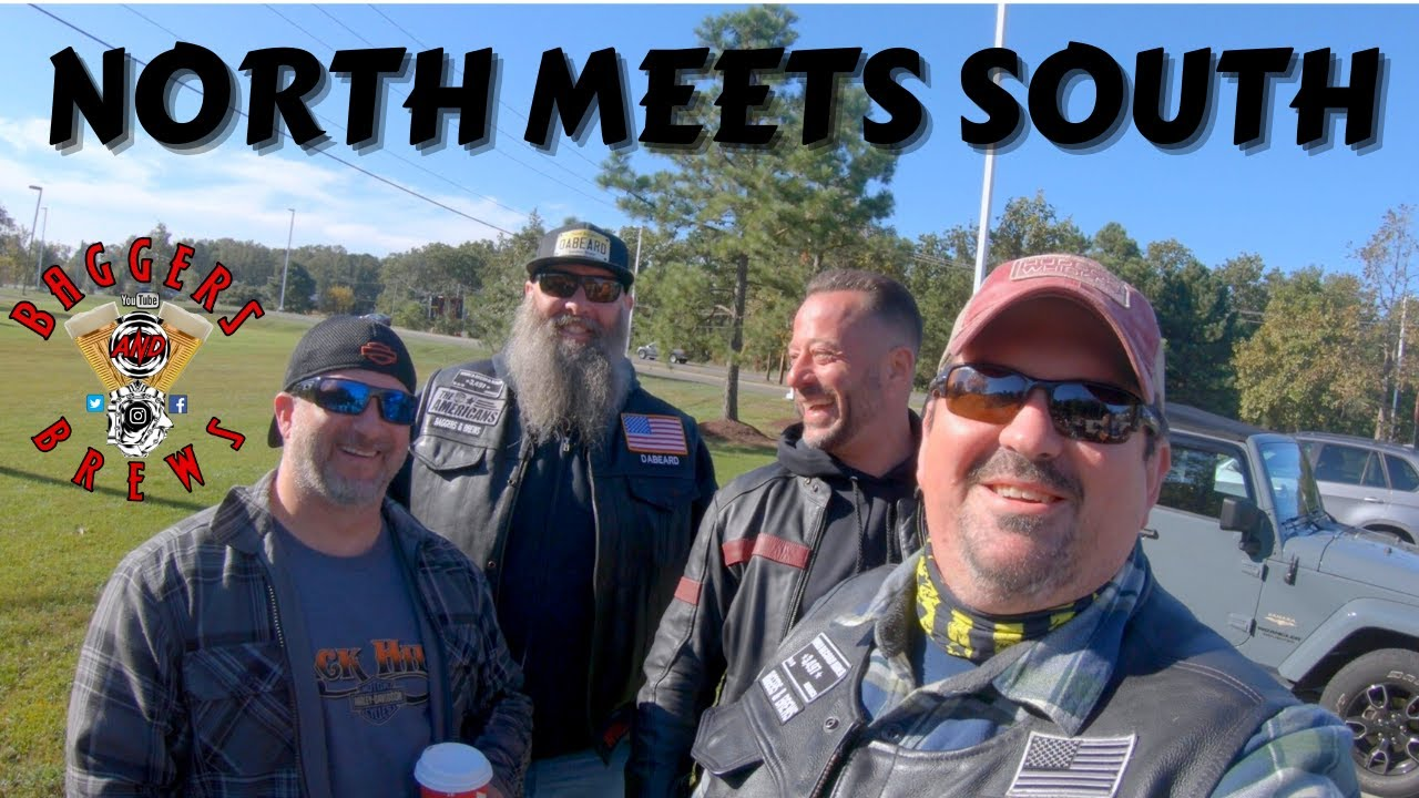 North vs South harley-davidson group ride in the pines