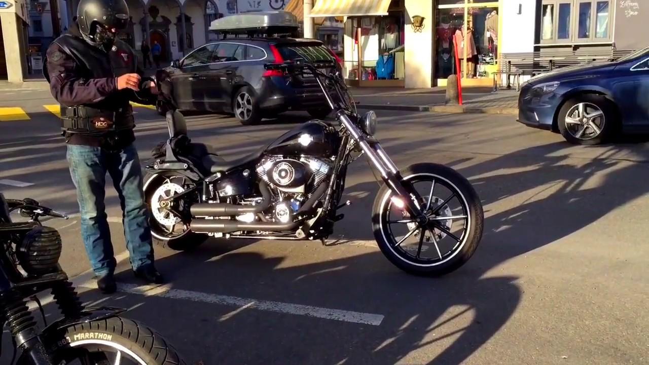 Harley Davidson Softail FXSB Breakout Ride with Ape Hanger