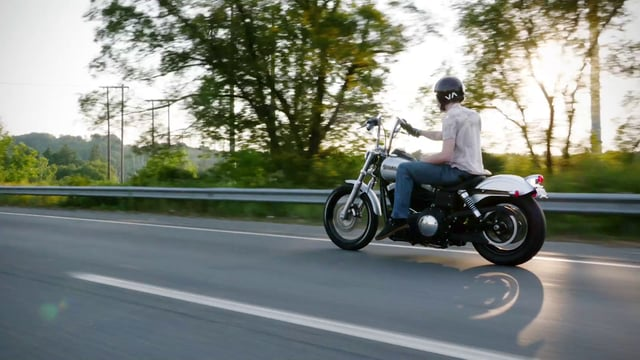Harleys On The Open Road