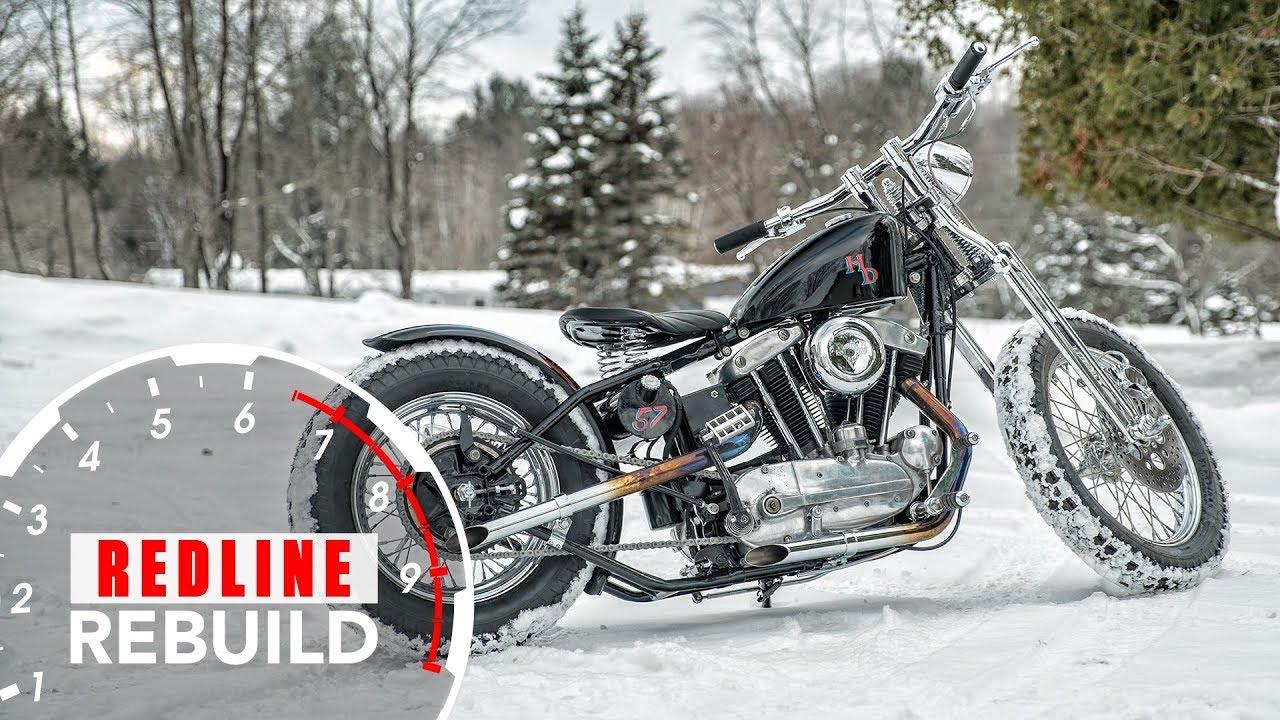 Harley-Davidson Sportster Complete Motorcycle Rebuild Time-lapse | Redline Rebuild #8